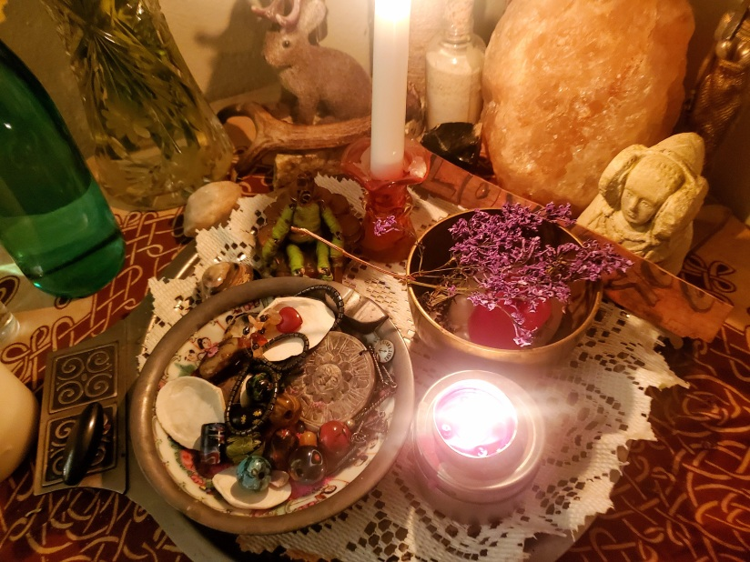 Mid month altar ready for ritual